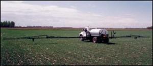 NYB Field Sprayer Power Fold Truck Mount in field