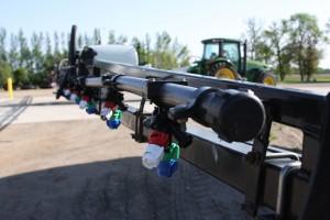 TurboDrop Spray Nozzles: installed on sprayer boom